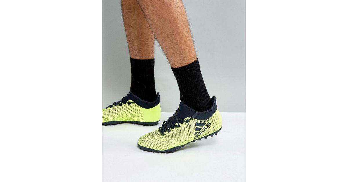 promo code 66099 81ea4 Lyst - adidas Football X 17.3 Astro Turf Trainers In Yellow Cg3727 in  Yellow for Men