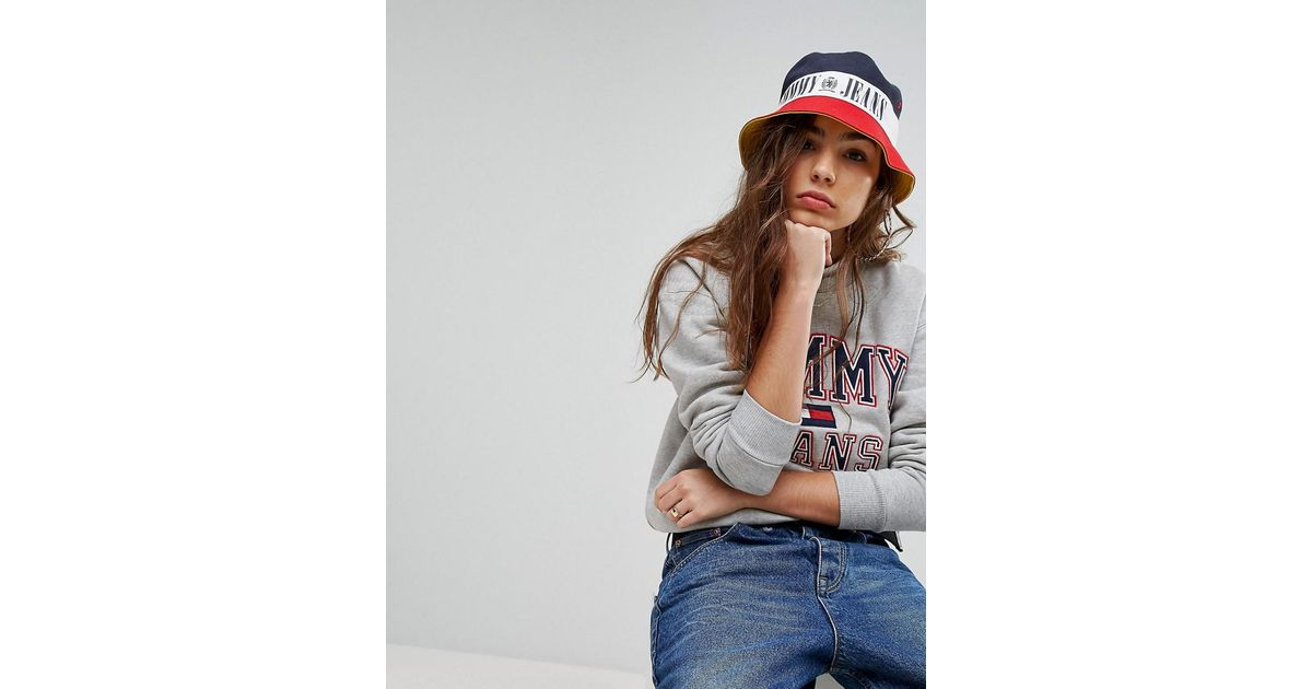 Tommy Hilfiger Tommy Jean 90s Capsule Bucket Hat - Lyst 6f84c37f380