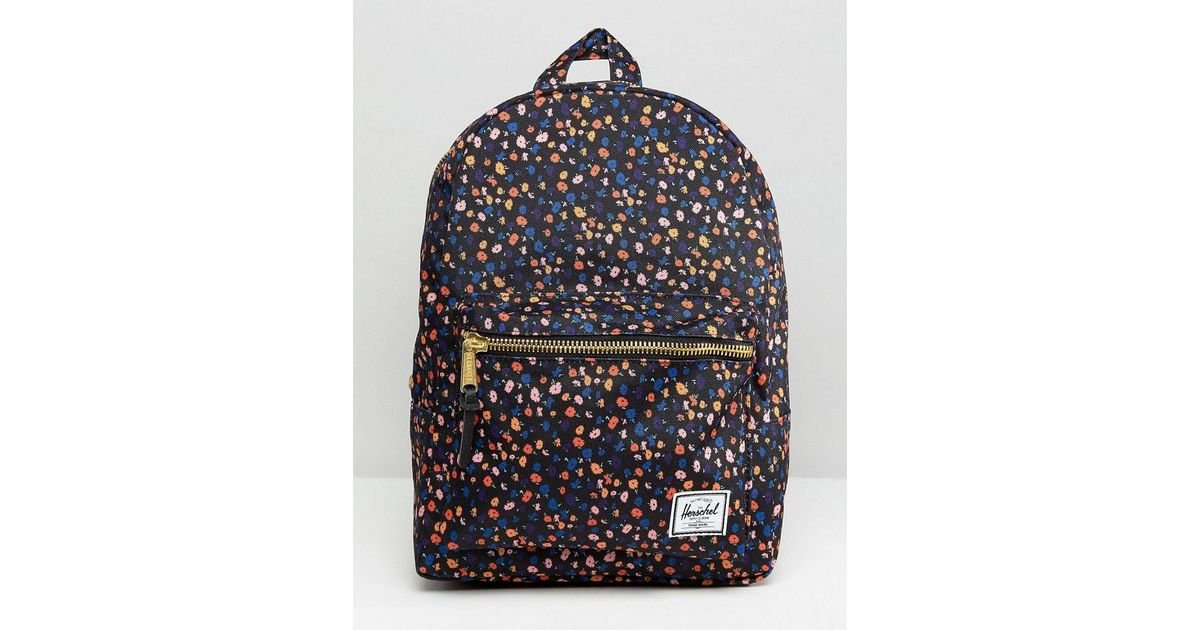affcc3d29c8 Lyst - Herschel Supply Co. Herschel Grove Mini Floral Backpack in Blue