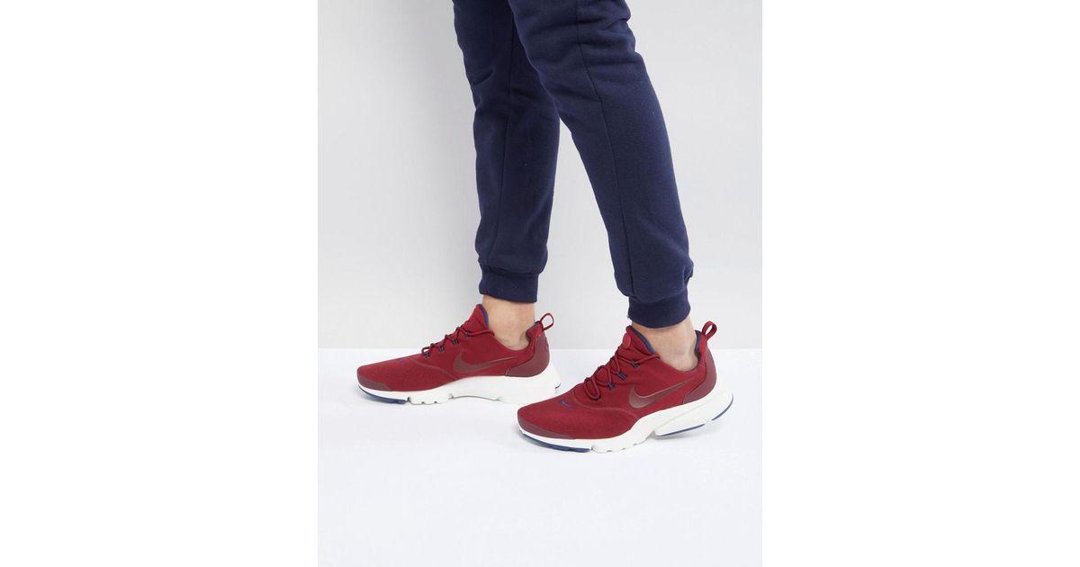 Nike Formateurs Mouche Presto 908019-604 Rouge - Rouge ZSanzMz