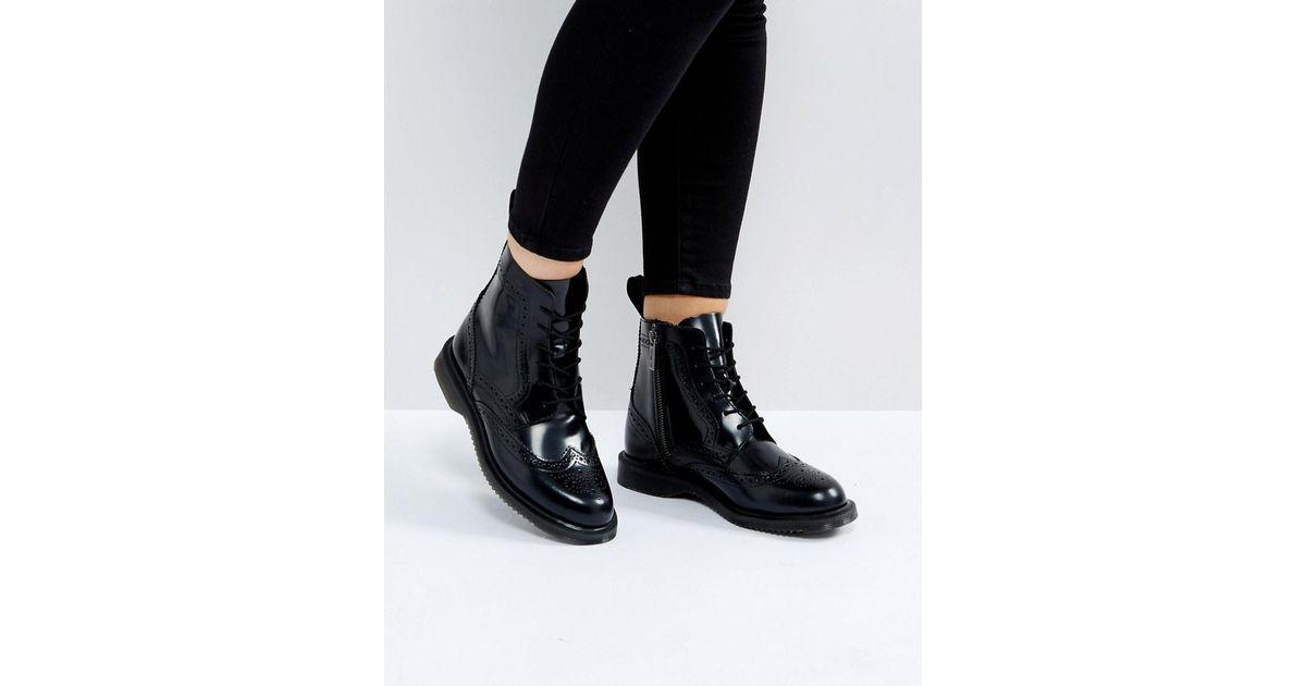 Dr. Martens Kensington Delphine Brogue Lace Up Ankle Boots 2jAC7TA