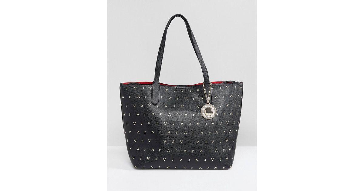 96a315f393 Versace - Black Jeans Vj Medium Tote Bag - Lyst