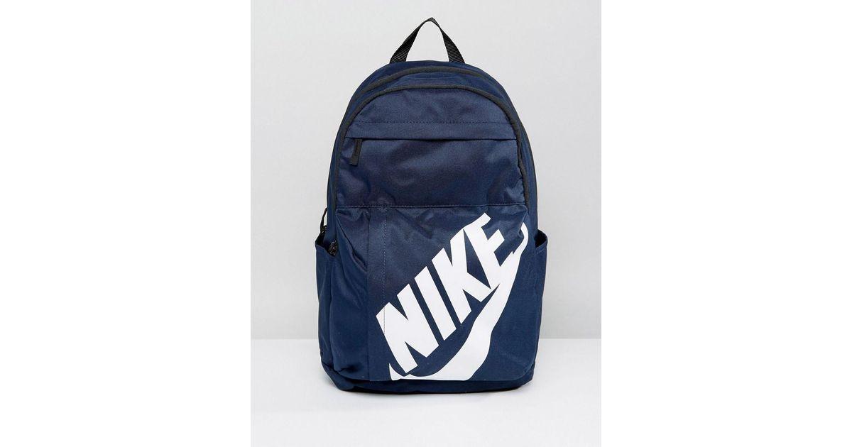 36d5515dd2a Lyst - Mochila azul marino con logo BA5381-451 de Nike de hombre de color  Azul