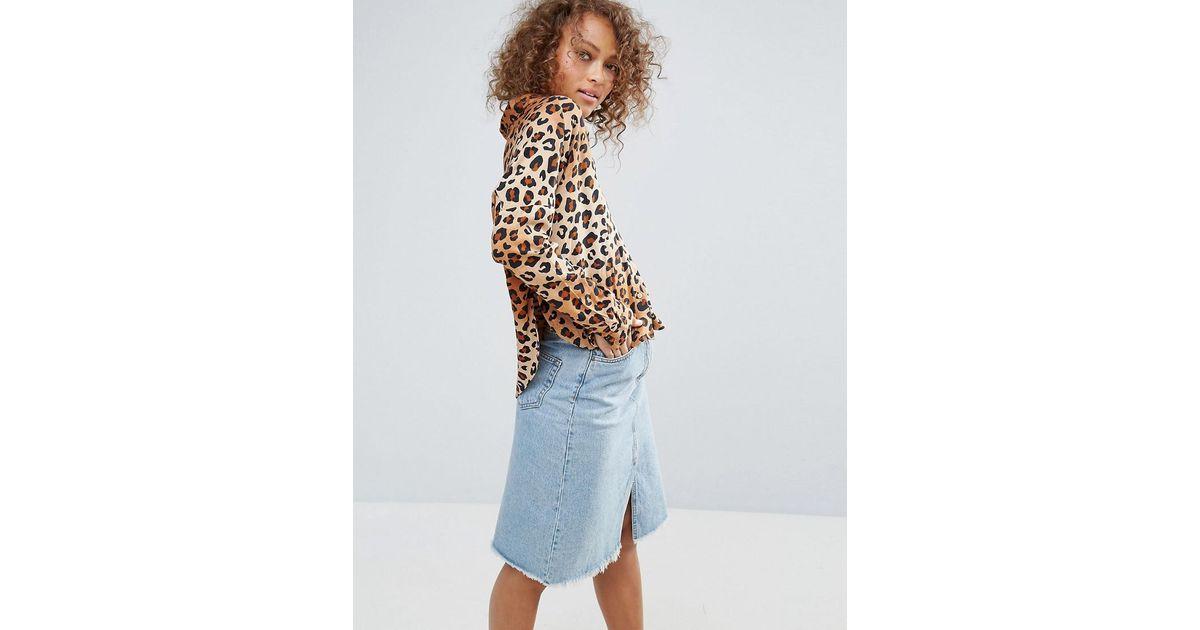 f214c9c9caf9 Monki Leopard Print Shirt - Lyst