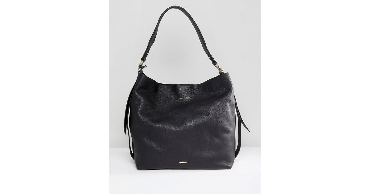 fc31962c5a078 Lyst - Paul Costelloe Real Leather Slouchy Shoulder Bag In Black in Black