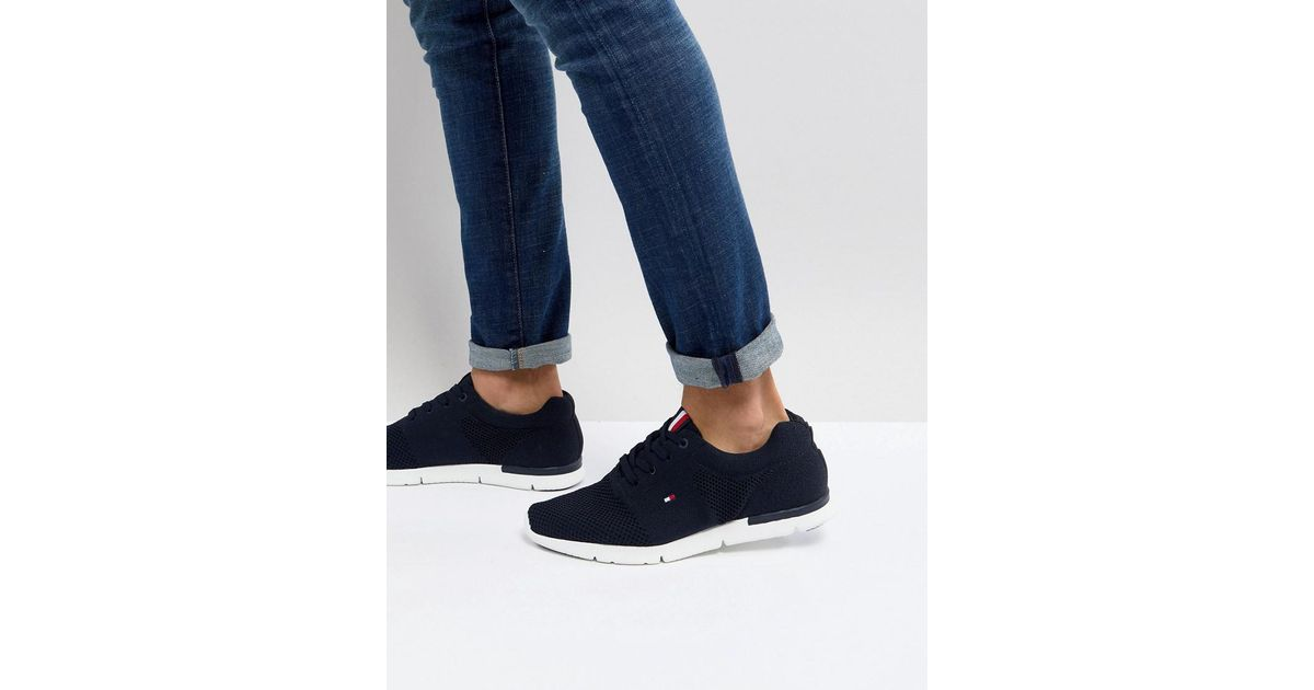 212cff1cc Lyst - Tommy Hilfiger Tobias Flag Mesh Trainers In Navy in Blue for Men