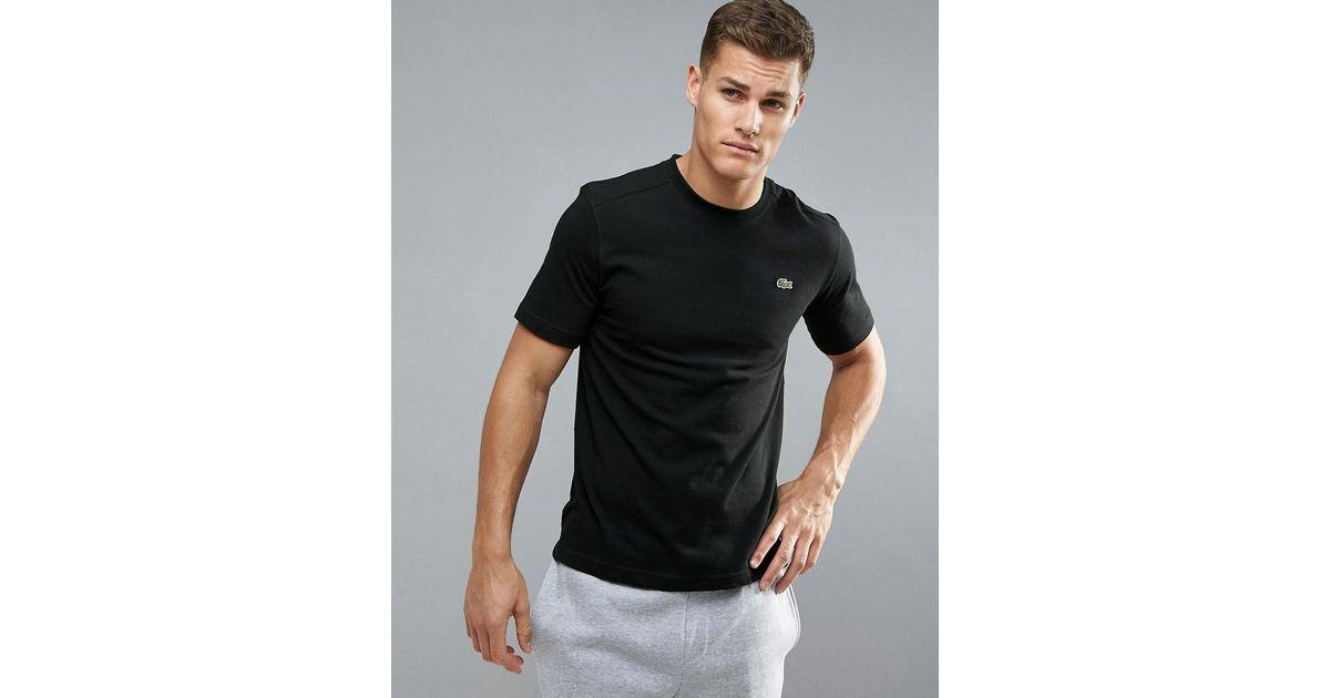 acfa2ce0f8d9 Lacoste Sport Logo T-shirt In Black in Black for Men - Lyst