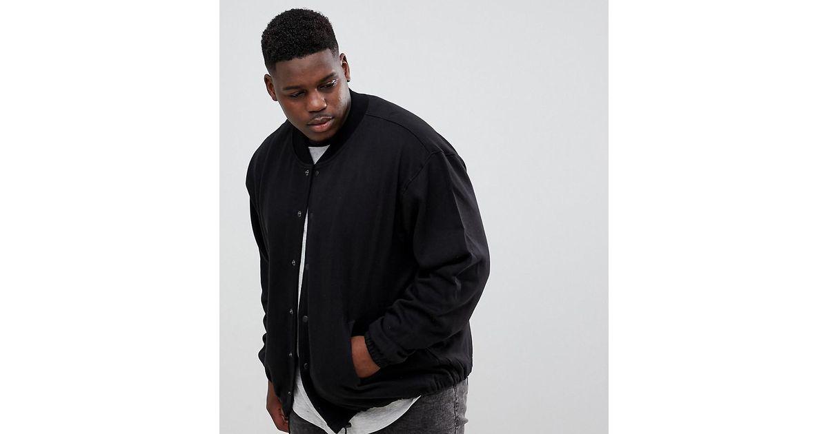 4050da041 Jacamo - Black Jersey Bomber Jacket for Men - Lyst