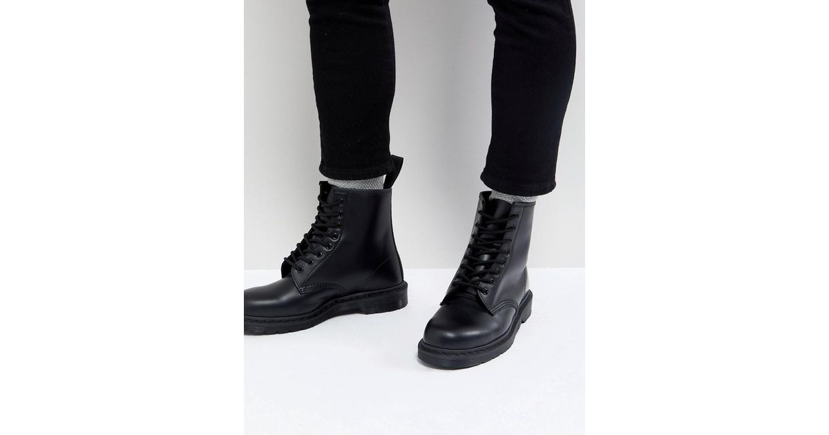 0bd61d3fef8b Dr. Martens 1460 Mono 8-eye Boots In Black in Black for Men - Lyst