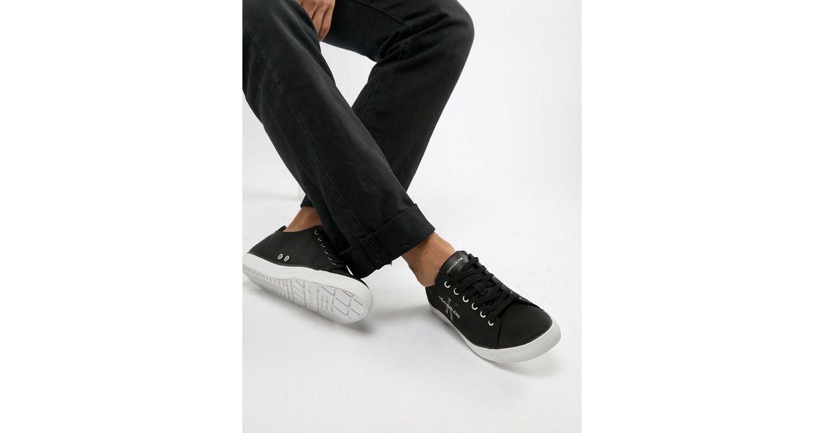 7051025e1dd Calvin Klein Arnold Logo Plimsolls In Black in Black for Men - Lyst
