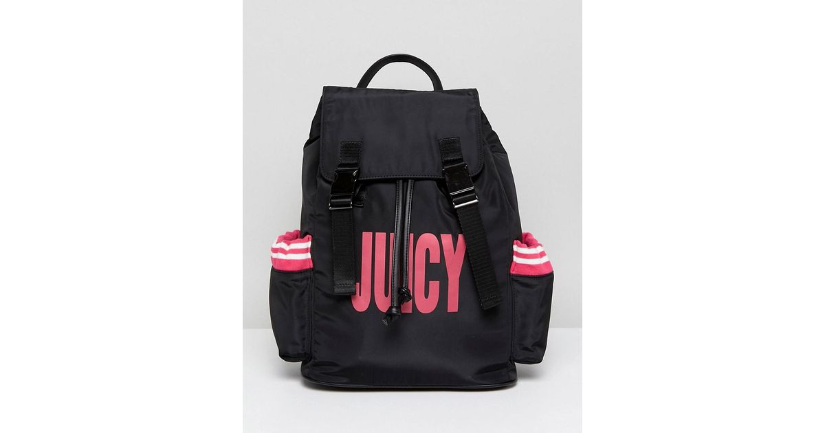 f96098c4fb74 Juicy Couture Juicy By Nylon Logo Backpack - Lyst