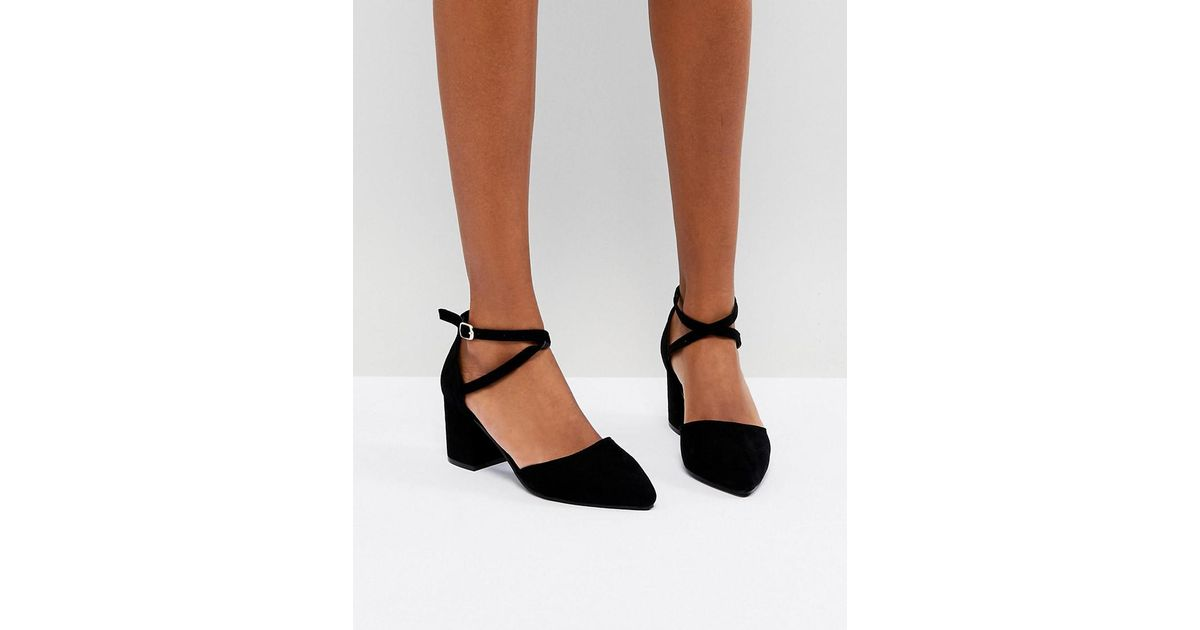 7b3558d2a573 Lyst - Oasis Block Heel Pointed Toe Shoes in Black