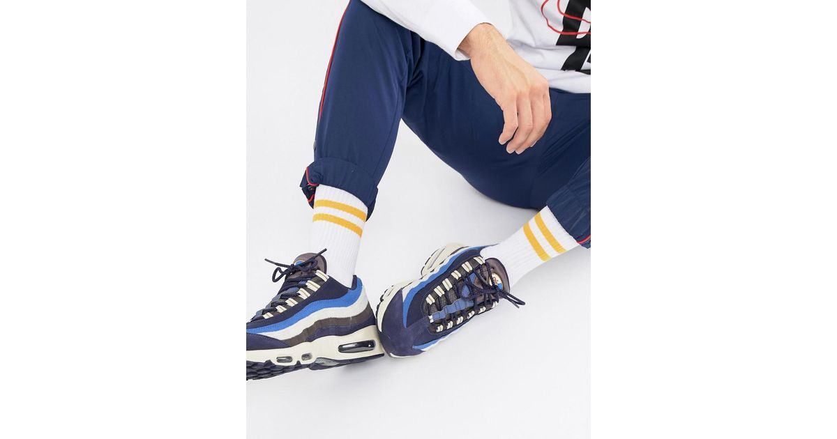best service 5bd63 d9c6c Nike Air Max 95 Premium Trainers In Navy 538416-404 in Blue for Men - Lyst