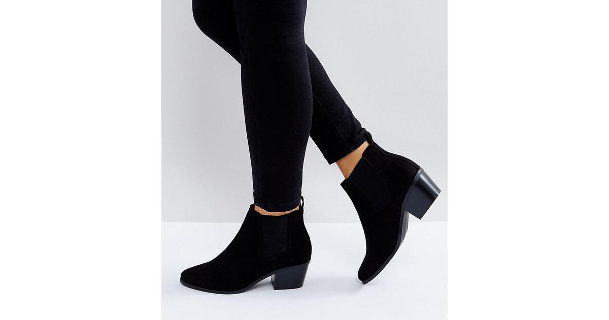 616106b818e Lyst - ASOS Wide Fit Revive Chelsea Ankle Boots in Black