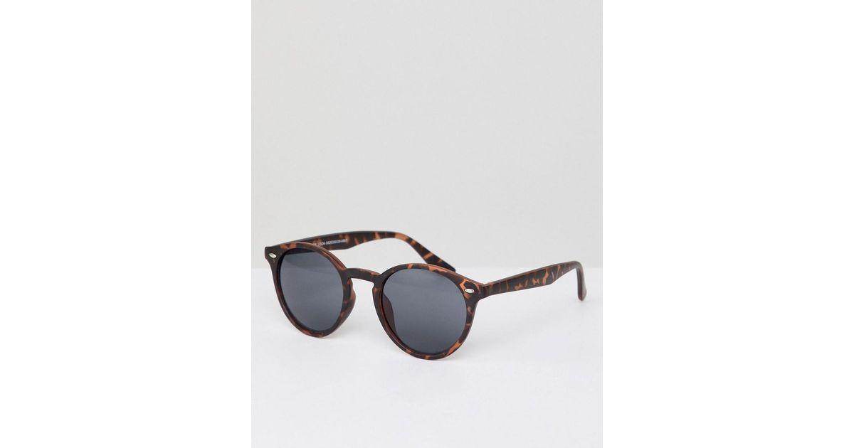 4164dce7c Gafas de sol redondas con exterior de carey en marrn de New Look de hombre de  color Marrón - 57 % de descuento - Lyst