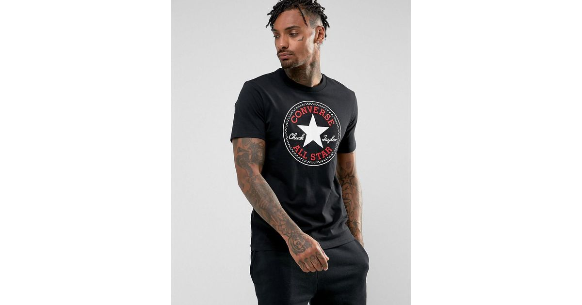 fdbe00d13a7ebe Lyst - Converse Chuck Patch T-shirt In Black 10005415-a01 in Black for Men