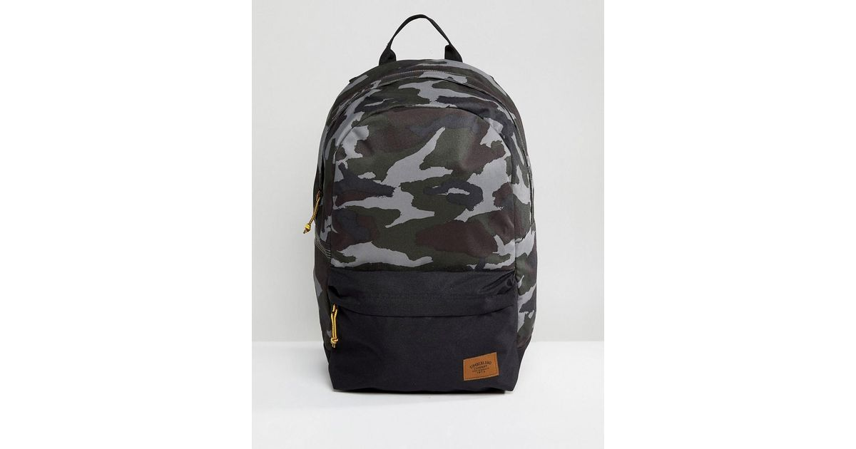 bc9f6dc7d71 Timberland Crofton 22l Backpack In Green Camo/black in Green for Men - Lyst