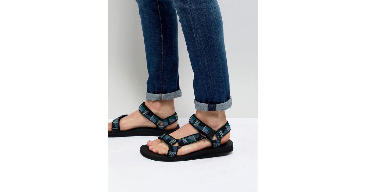 bfc4f920014 Lyst - Teva Original Universal Sandals in Black for Men