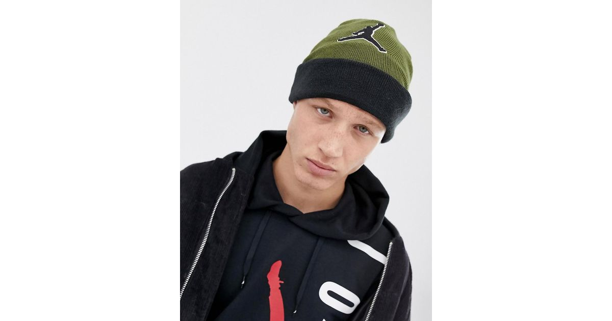 206bb930583e Nike Nike Jumpman Beanie In Khaki Aa1302-395 in Green for Men - Lyst