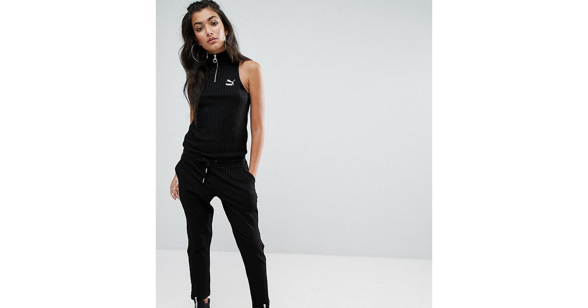 d8cfc1fcca50 Lyst - PUMA Exclusive To Asos High Neck Backless Jumpsuit in Black