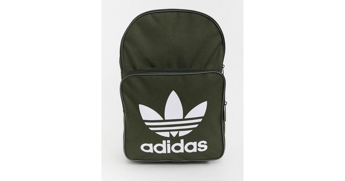 5da476b1ade0 Adidas Originals Trefoil Backpack In Khaki in Green for Men - Lyst