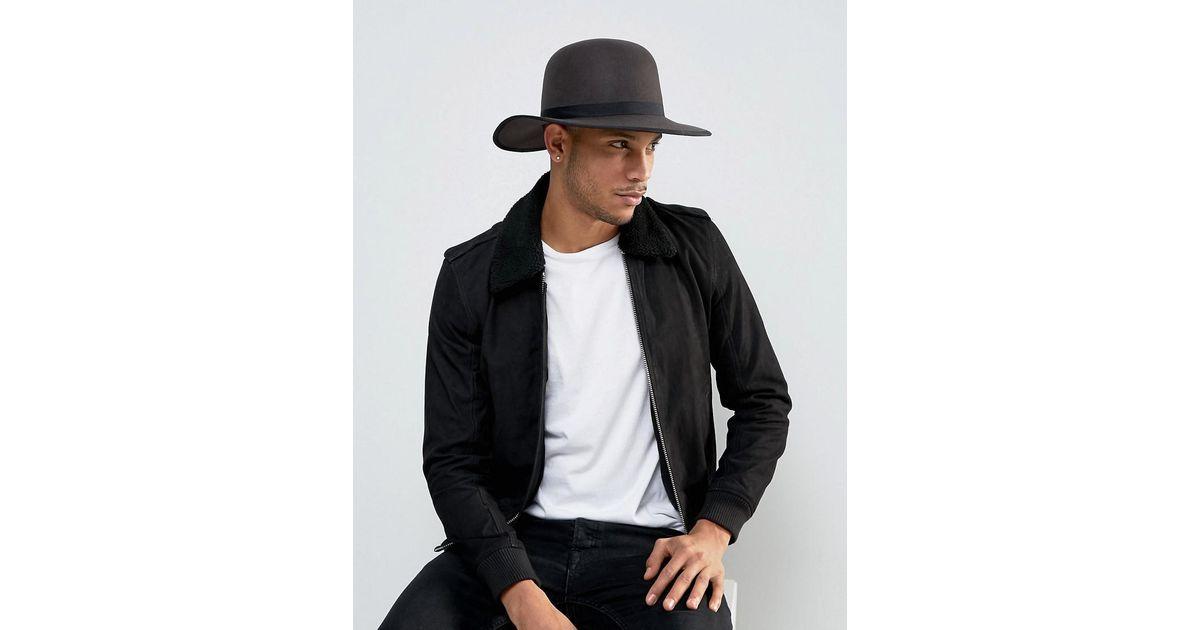 Lyst - Brixton Sonoma Hat With Wide Brim in Gray for Men 17de656a425