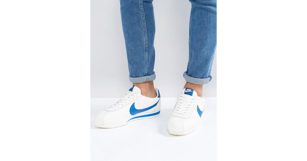 the latest 6743c 944f8 Nike Classic Cortez Leather Se Trainers In White 861535-102 in White for  Men - Lyst