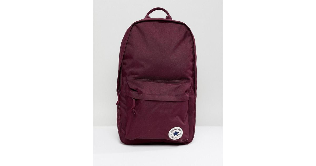 Lyst - Converse Chuck Taylor Patch Backpack In Burgundy in Red for Men 2be8c9be87