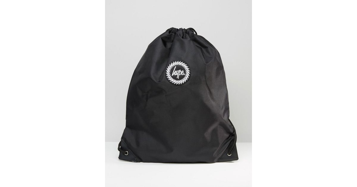 Lyst - Hype Drawstring Backpack in Black for Men 7f5bc18d4f976