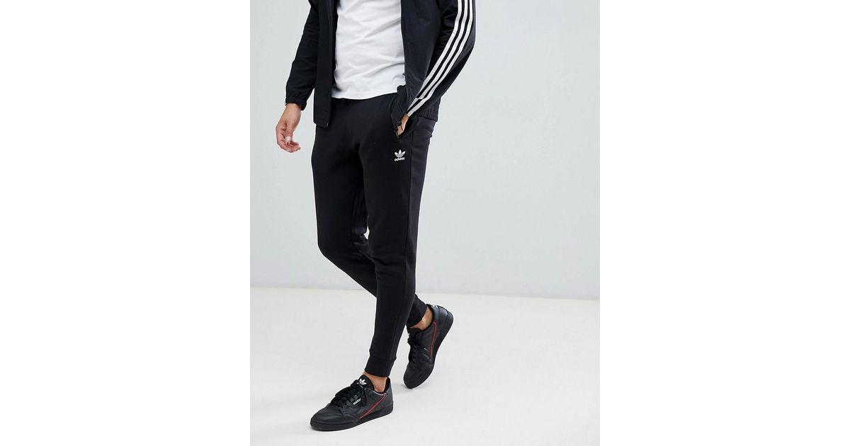 Adidas Originals Hochwertige, enge Jogginghose in Schwarz DN6009 in Black für Herren