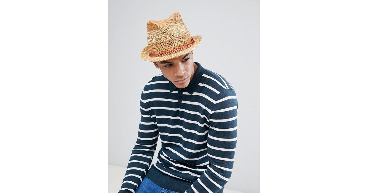 25174a37 Barts Venture Summer Trilby Hat in Natural for Men - Lyst