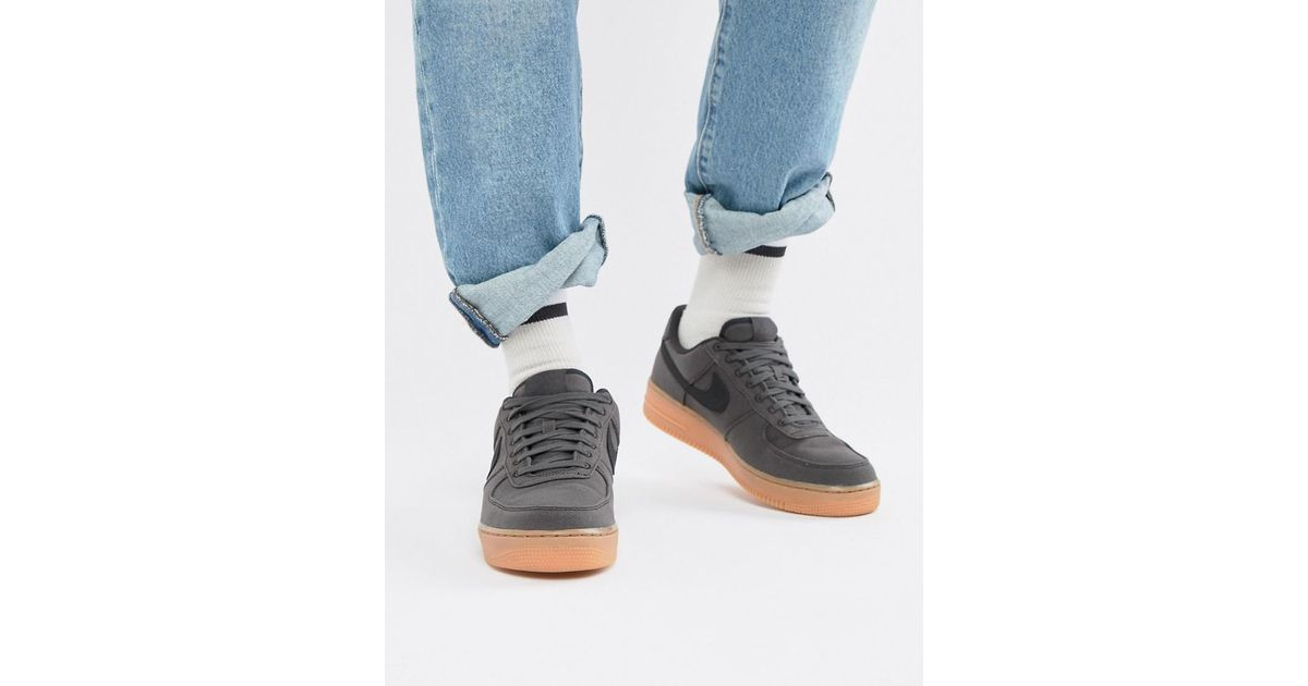 brand new 0e30f d1881 Nike Air Force 1  07 Style Trainers With Gumsole In Black Aq0117-002 in  Black for Men - Lyst