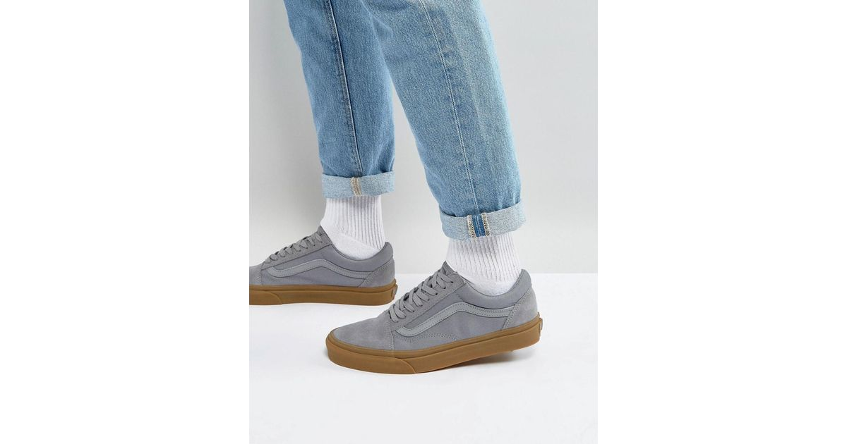 Vans Old Skool Sneakers With Gum Sole In Grey Va38g1po9 in Gray for Men -  Lyst d9c92027c