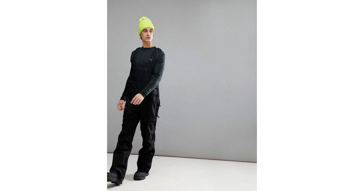 e61b75a74 Volcom Snow Roan Bib Overalls in Black for Men - Lyst