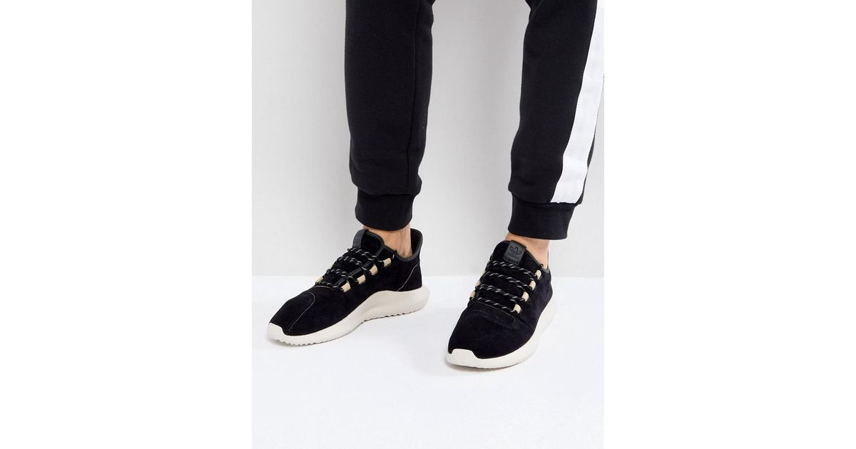 c9e3206a9 adidas Originals Tubular Shadow Trainers In Black By3568 in Black for Men -  Lyst