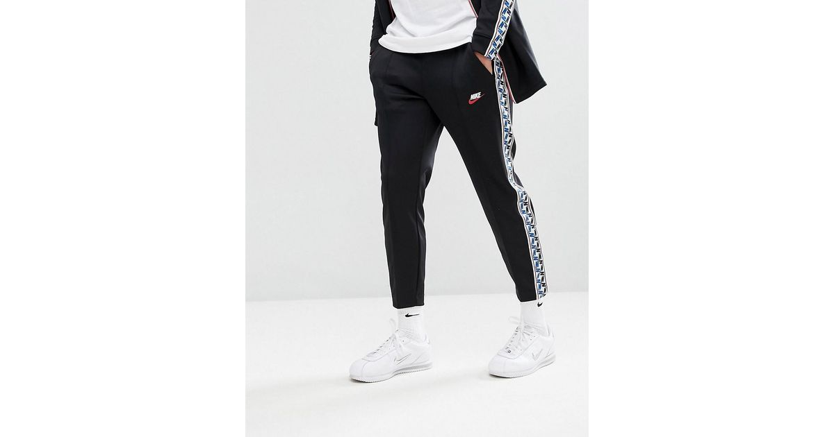 9d694df848f0fa Nike Joggers With Taped Side Stripe In Regular Fit In Black Aj2297-010 in  Black for Men - Lyst