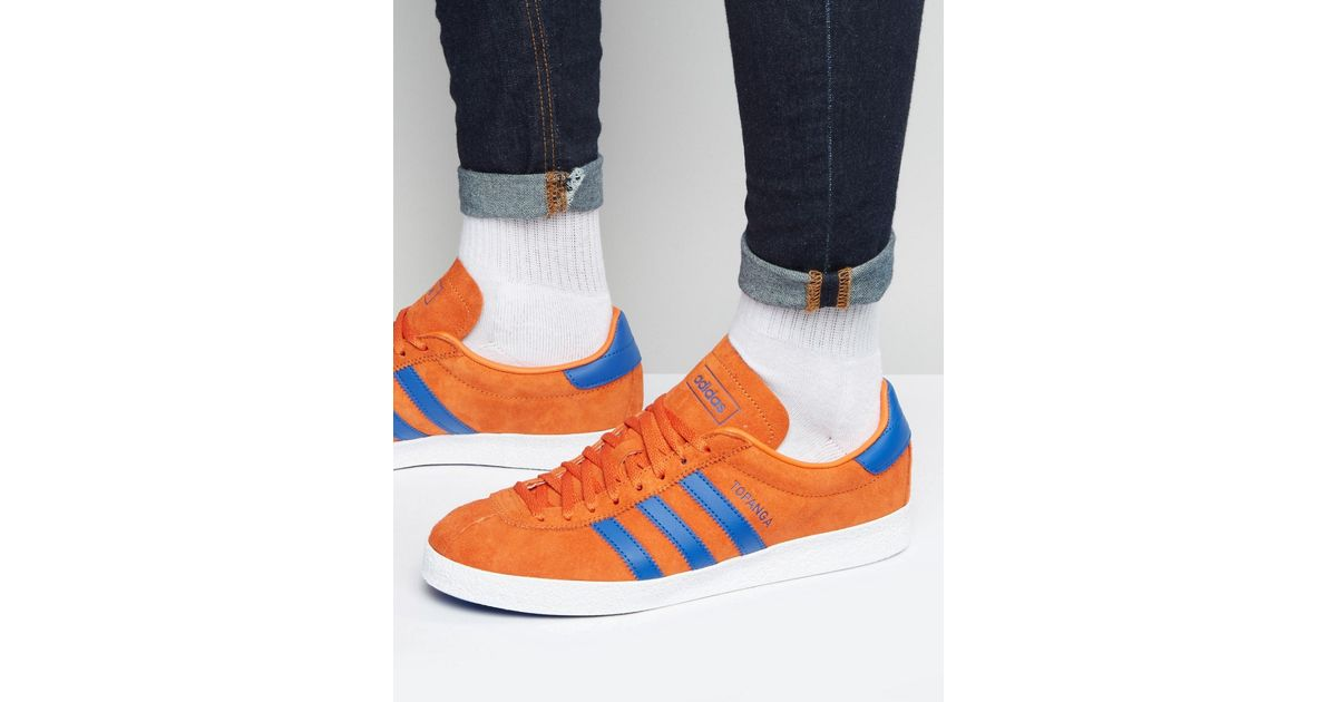 good texture retail prices the latest Adidas Originals Topanga Sneakers In Orange S80056 for men