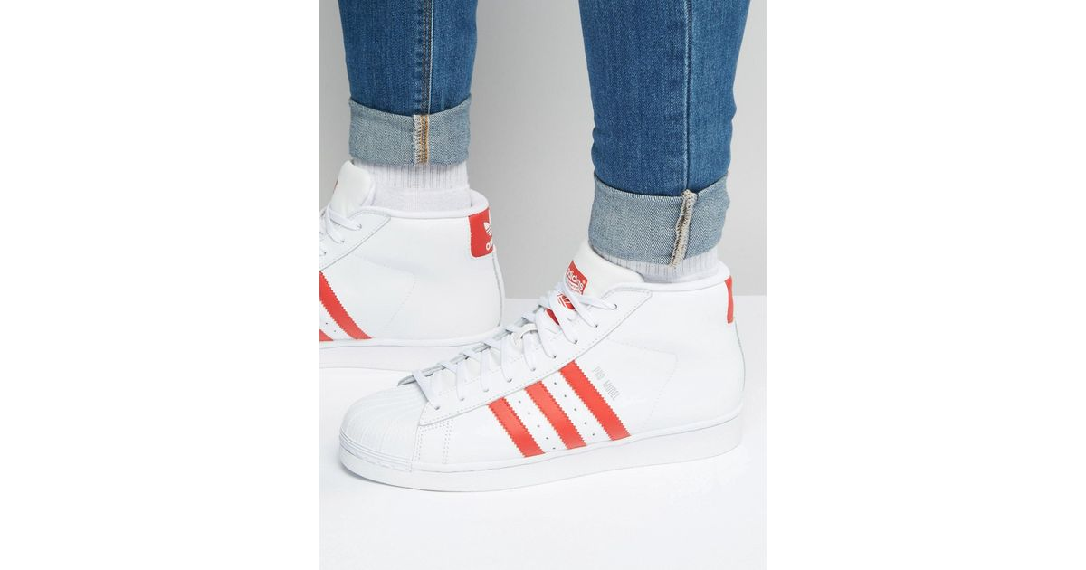 various colors e3489 60751 Lyst - adidas Originals Pro Model Trainers In White S75928 in White for Men