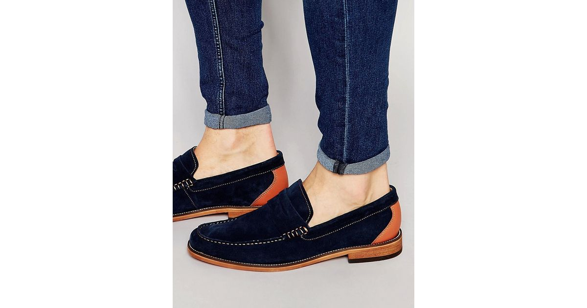 Lyst - Aldo Cynfran Penny Loafer in Blue for Men