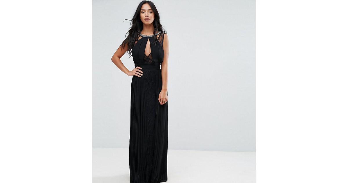 Tfnc maxi dress with lace sides