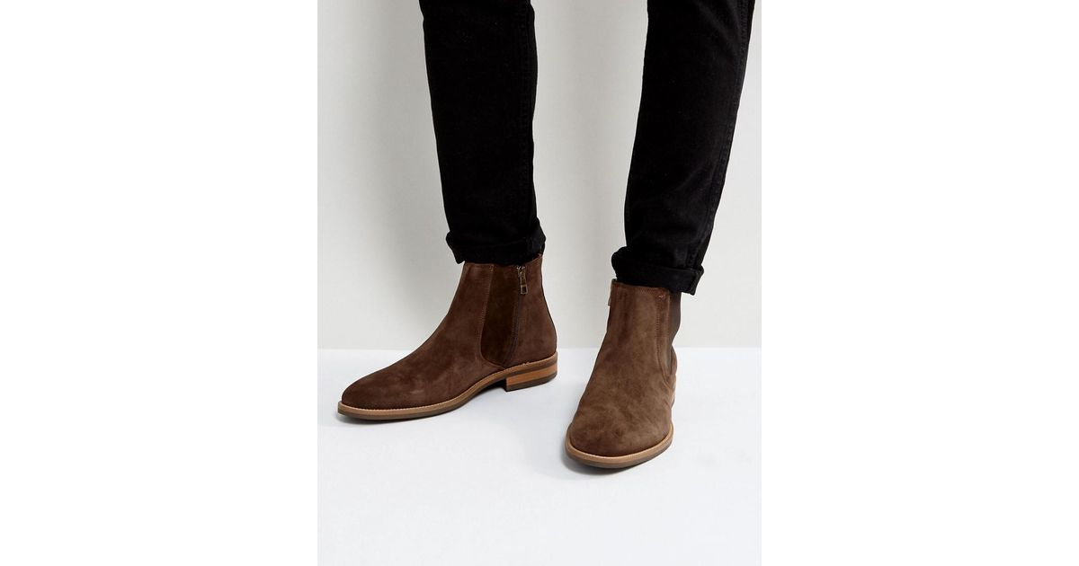 2f15a7be59f2a5 Lyst - Tommy Hilfiger Daytona Chelsea Boots Suede In Brown in Brown for Men