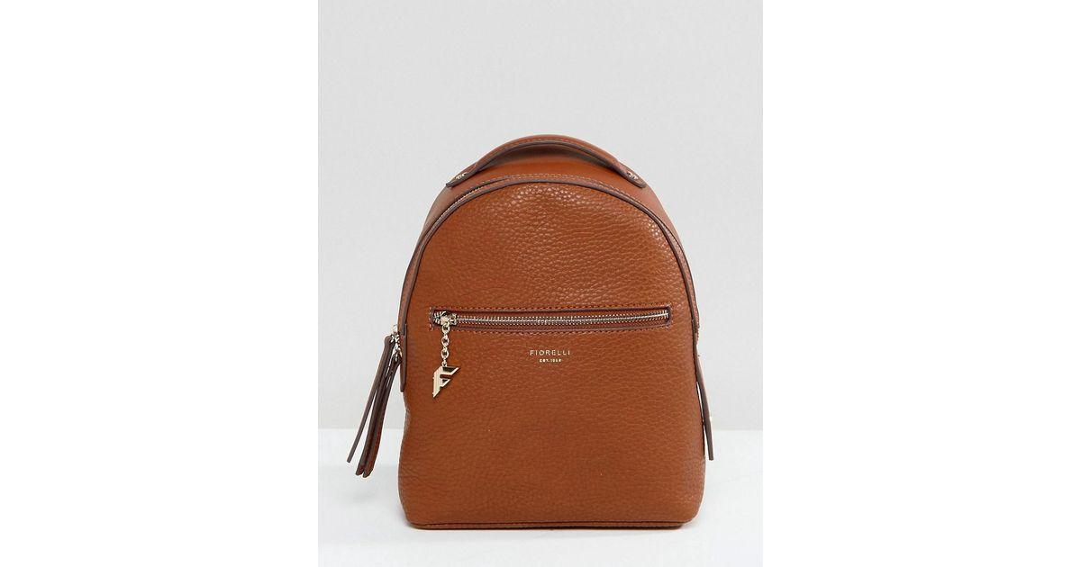 Lyst - Fiorelli Mini Anouk Tan Tumbled Backpack in Brown