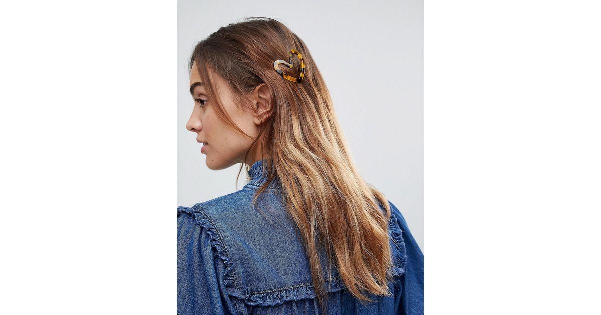 Écaille De Tortue Clip Cheveux Coeur - Multi-asos W4cJindHHn