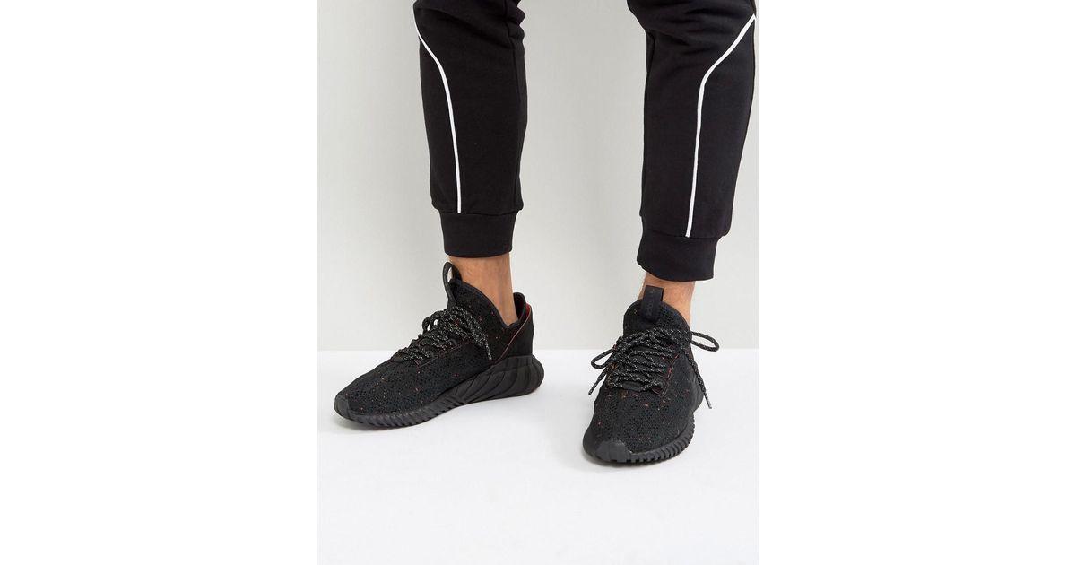Adidas originali tubulare doom sock primeknit scarpe in nero