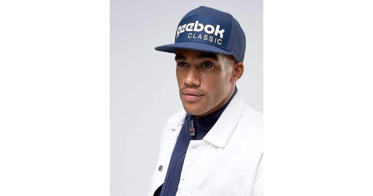 Reebok Classic Foundation Cap In Navy Ao0039 in Blue for Men - Lyst 8a3e7e58789