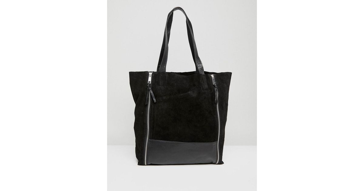 Shopper with Double Zip Detail - Black Urban Code kbQYx