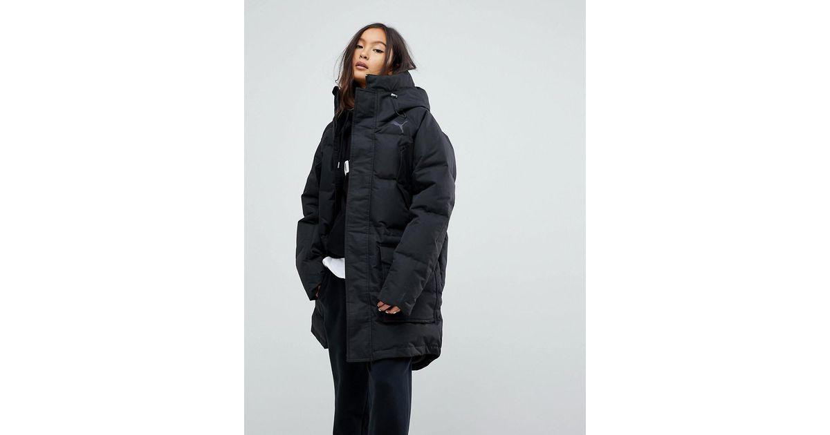 5872b4183d91 Lyst - PUMA Oversize Padded Coat in Black