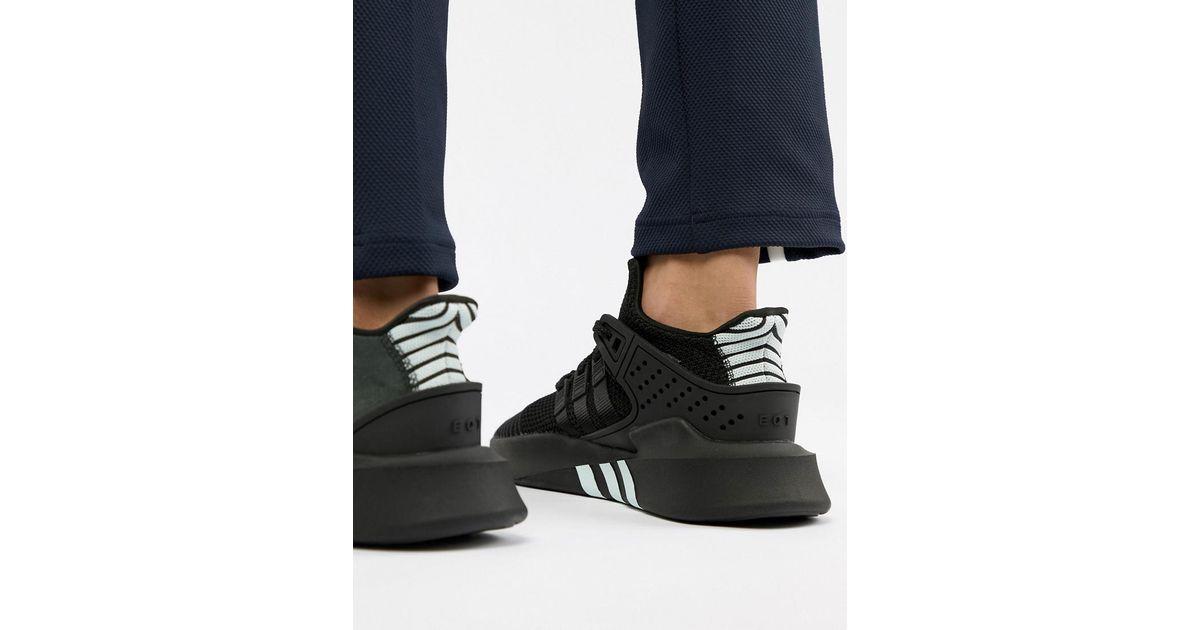 9fe33fb75b5 Lyst - adidas Originals Eqt Bask Adv Sneakers In Black Cq2991 in Black for  Men