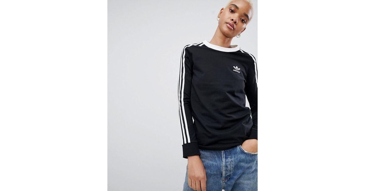 Adidas Et Manches T Shirt À Originals En Trois Lyst Longues Bandes xOgB8q7g4w