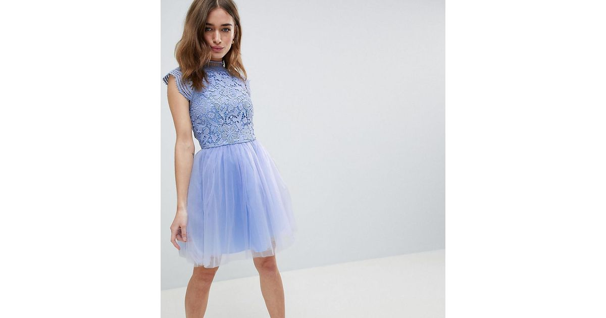 7f83892c58c1 In Tulle Cap With Sleeve Lyst Midi Lace Chi Dress London 2 Chi 1 tqpw7P0